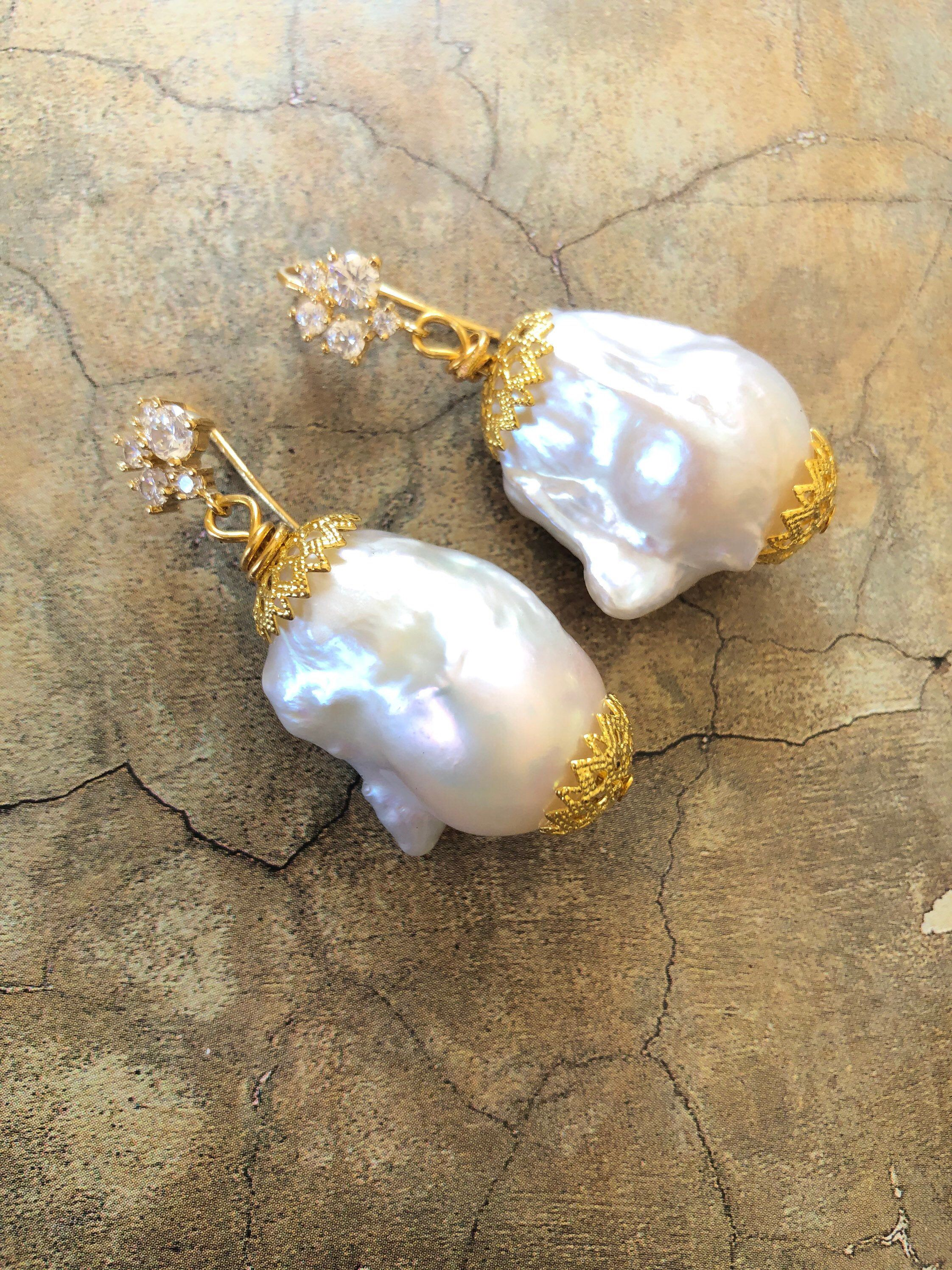 Earrings Kasumi Pearl cubic zirconia 925 silver