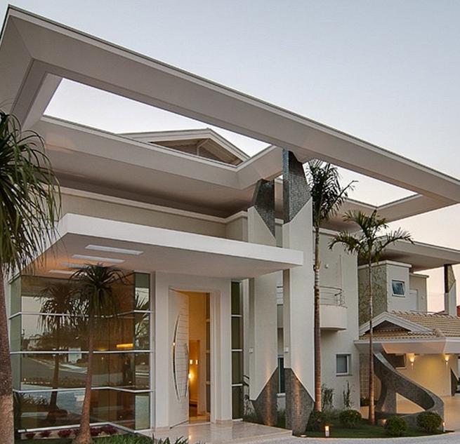 25 fachadas de casas ultramodernas esculturais casa