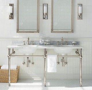 Gramercy Double Metal Washstand   Restoration Hardware   Bathroom Sinks    By Restoration Hardware