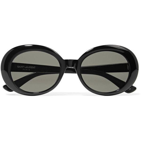 13bb47c1414 SL 98 round-frame acetate sunglasses Saint Laurent ❤ liked on Polyvore  featuring accessories, eyewear, sunglasses, round sunglasses, acetate  sunglasses, ...
