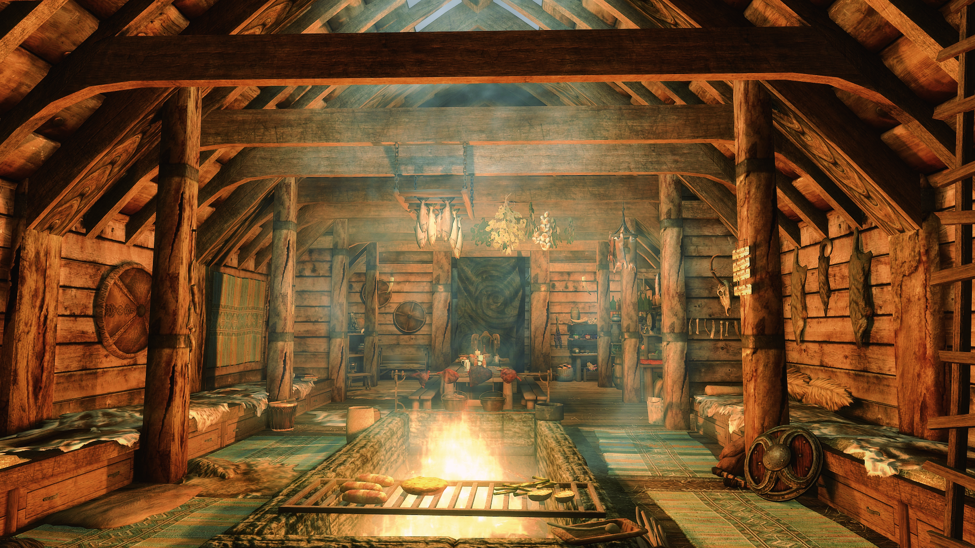 Viking S Longhouse At Skyrim Special Edition Nexus