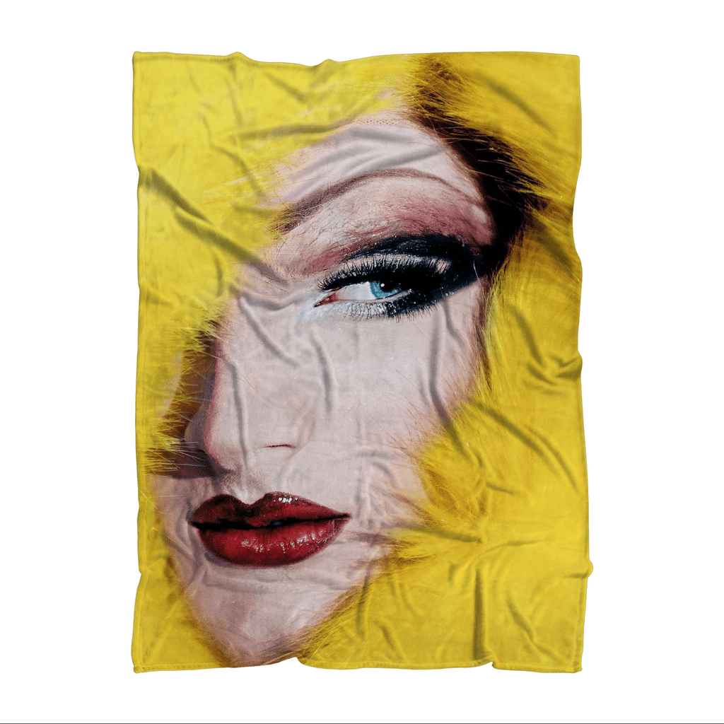 Overall print fleece blanket drag queen products pinterest