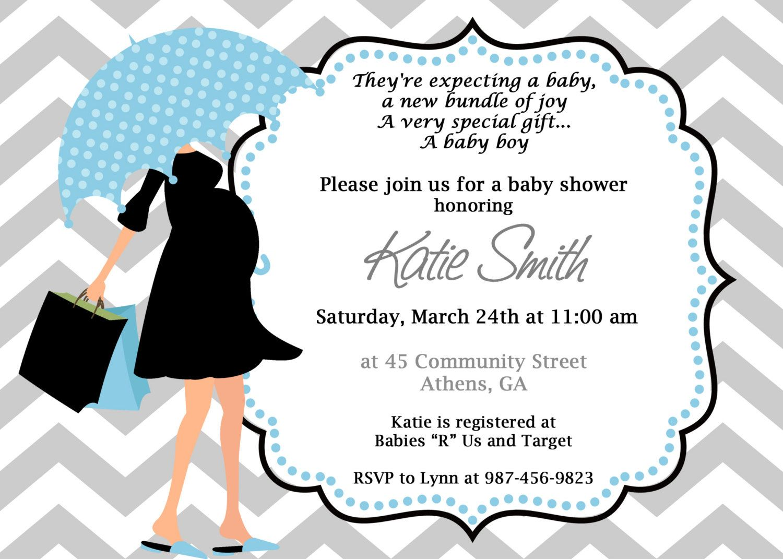 DIY Modern Mom Printable Baby Shower Invitation. Printable Baby Boy ...
