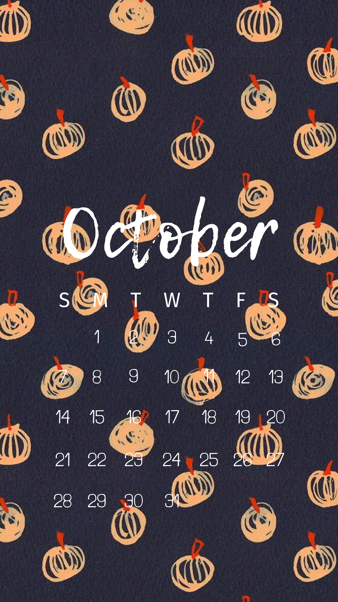 Made On Canva Calendar October Fall Background Graphic Design Software Printing Business Cards Pattern Illustration