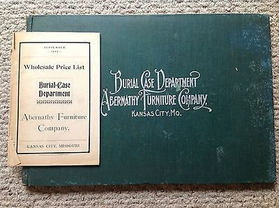 Abernathy Furniture Company Funeral Supplies Catalogue 1902 Kansas