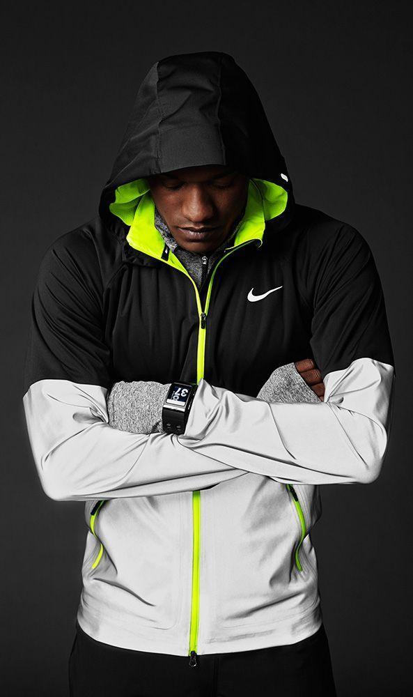 nike free run black reflective vest