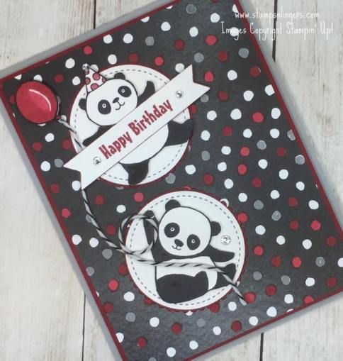 Image result for party panda stampin up  Image result for party panda stampin up