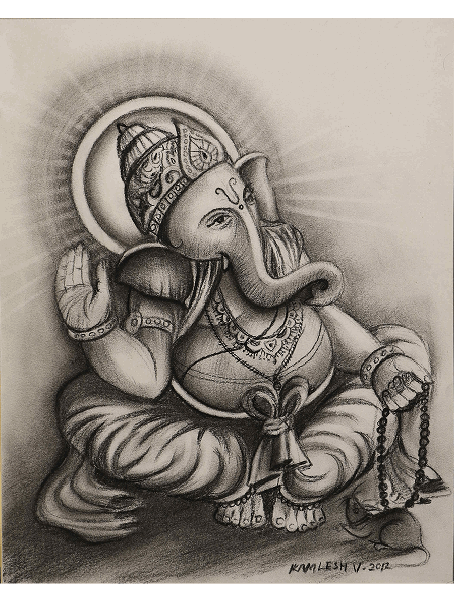 Pin by Balaji on Devotional Charcoal sketch, Charcoal