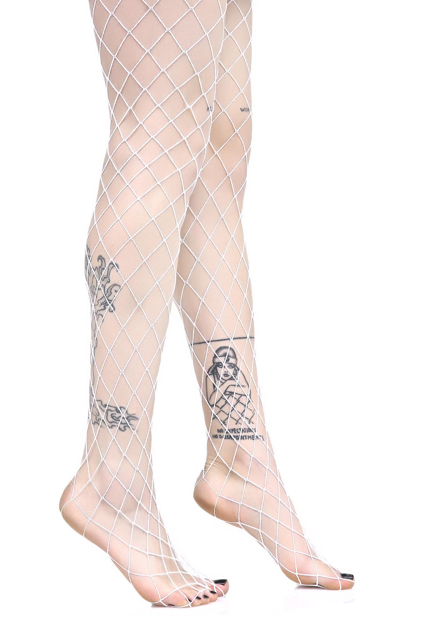 635f5fec3379b Ice Diamond Doll Fishnet Stockings no one can dull yer shine, bb. These  fishnets feature a large diamond design and a stretchy white nylon  construction.