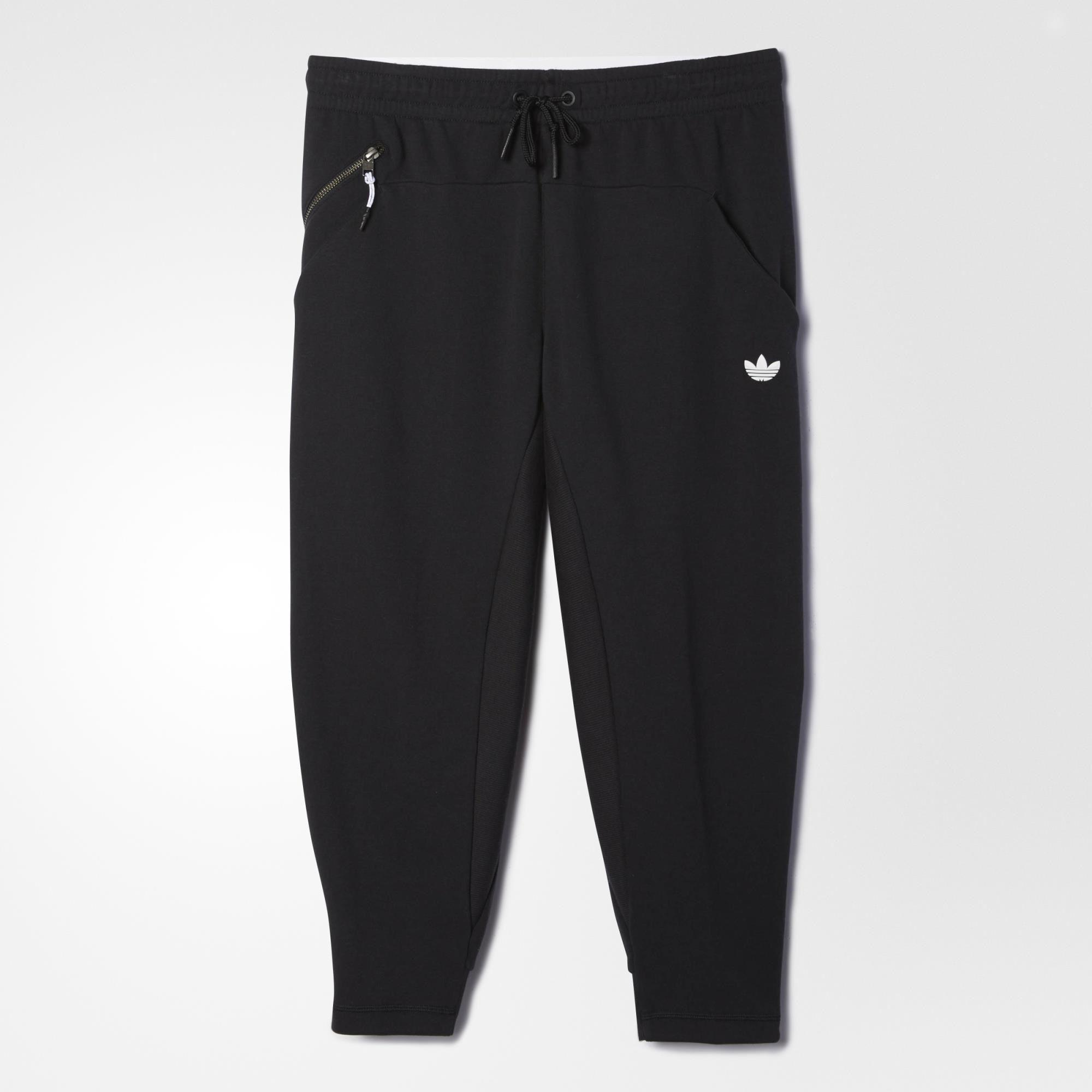 adidas Sport Luxe Three-Quarter Fleece Pants - Black | adidas US