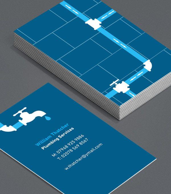 Browse Business Card Design Templates Plumber Logo Business Cards Business Card Template Design Customizable Business Cards