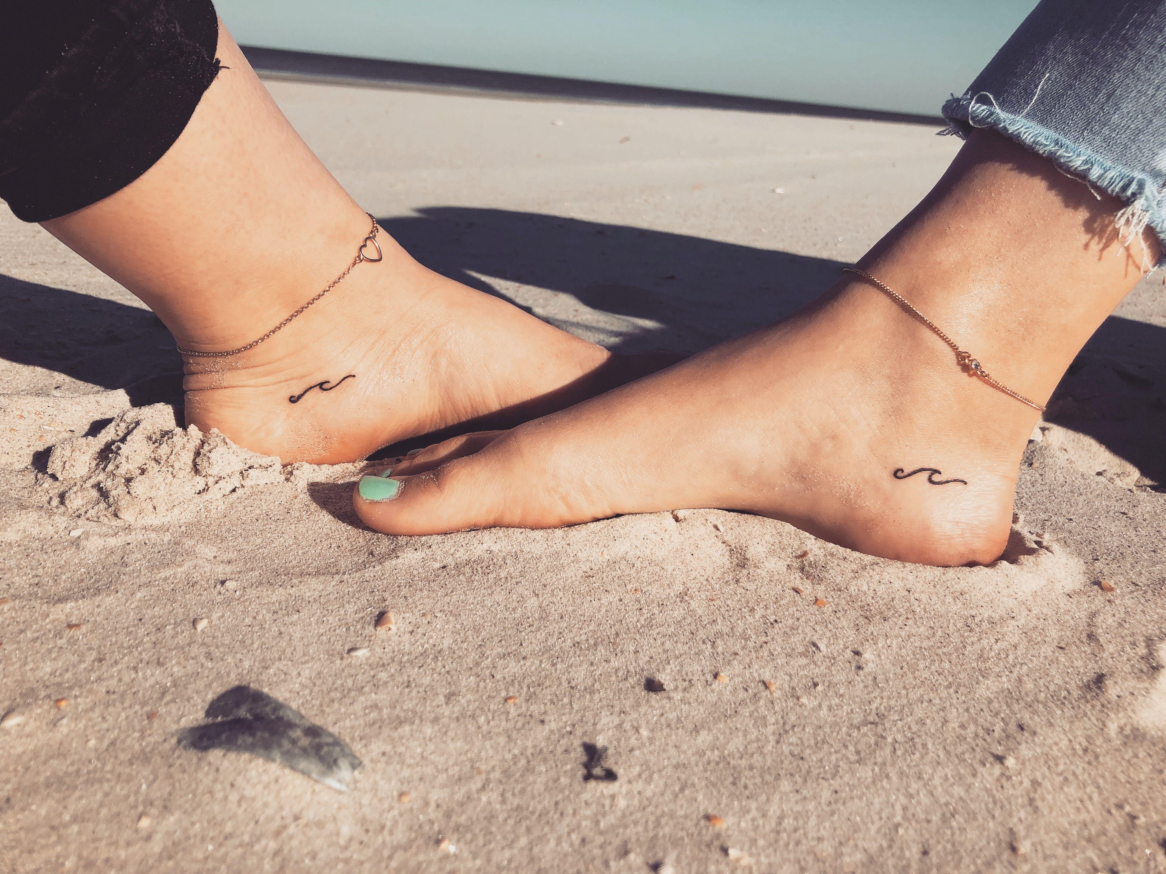 Wave Beach Tattoo Beach Tattoo Foot Tattoos Foot Tattoos Girls