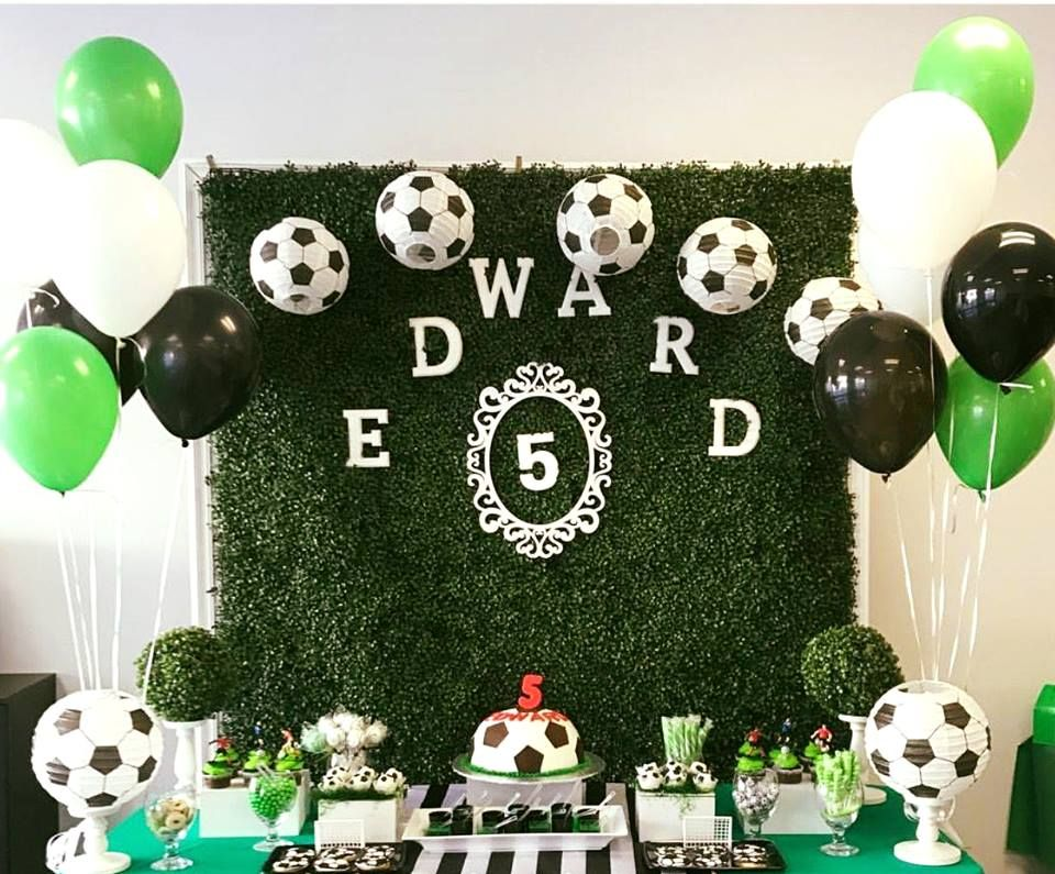 Football Themed Party Soccer Birthday Parties Soccer Theme Parties Soccer Party Decorations