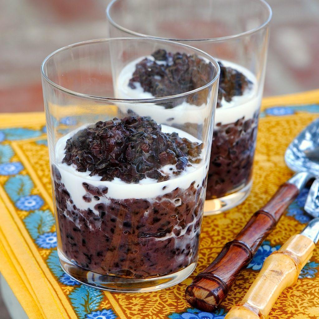 black glutinous rice dessert calories