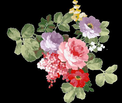 Scrap Flores Vintage Arte Para Decoracion Ilustraciones Flower Art Floral Watercolor Flower Painting