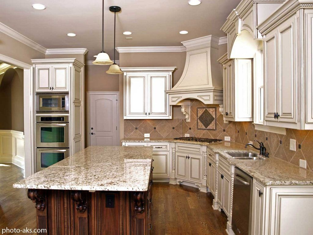 Light Gray Kitchen Cabinets With Chocolate Glaze Antique White Kitchen Antique Kitchen Cabinets Off White Kitchens