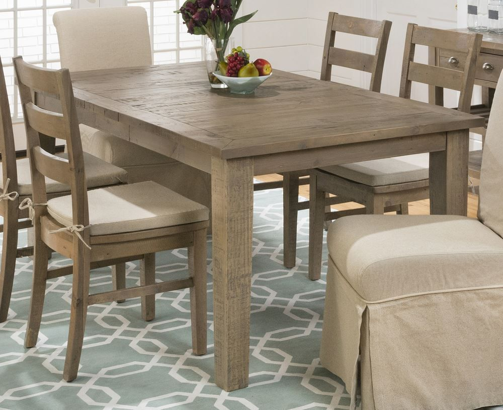 Buy Jofran Slater Mill Pine 72x42 Rectangular Dining Table W Extension Leaf On Sale Online