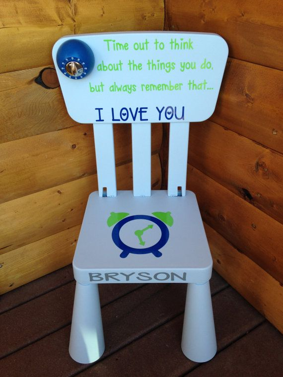 Personalized Time Out Chair With Timer By Giftsforit On Etsy