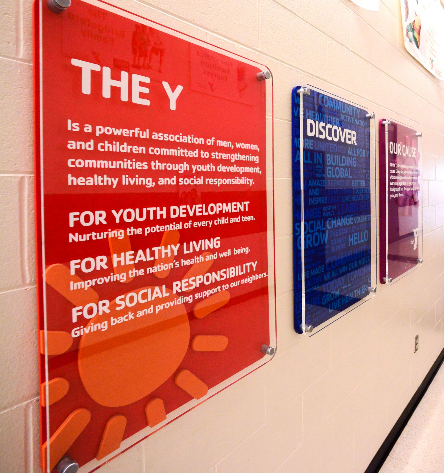 Iacono supports ys with contest and signage ymca