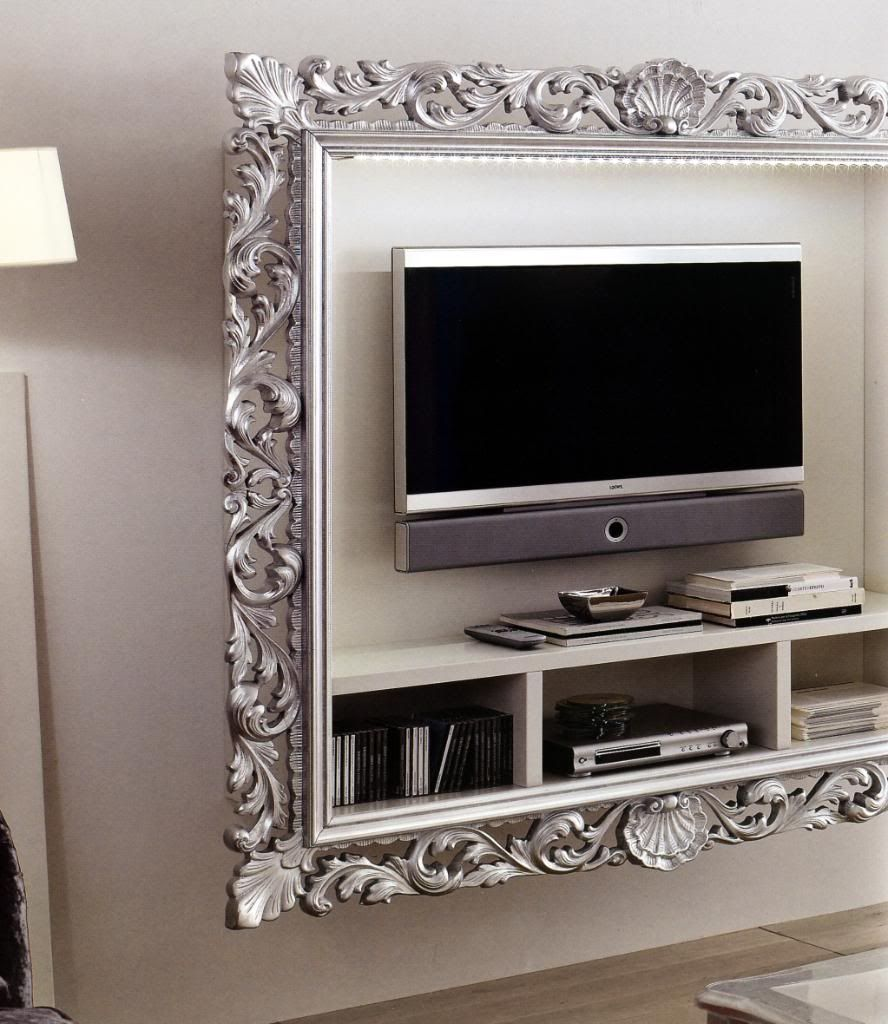 Porta Tv Cornice Argento.Pin By Womanlifestyle On Interiordesign Wall Tv Stand Tv