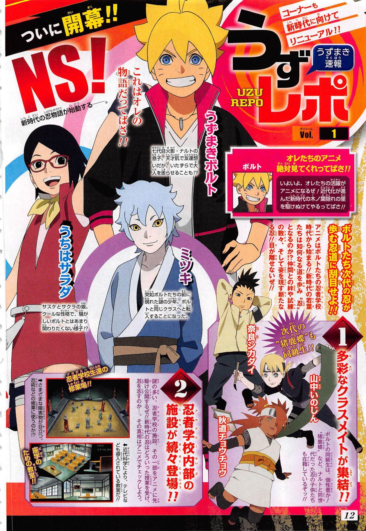 Más diseños de personajes del Anime Boruto Naruto Next