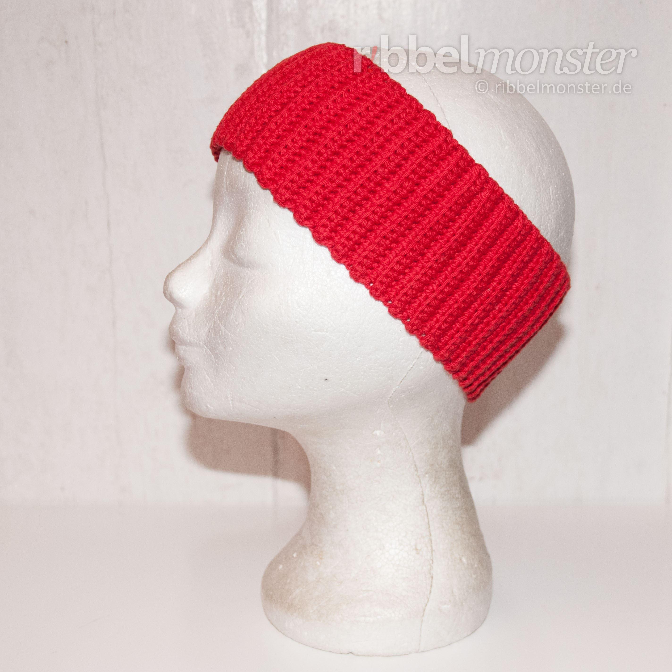 geripptes Stirnband häkeln Anleitung | Kopfsache: Stirnbänder, Hüte ...