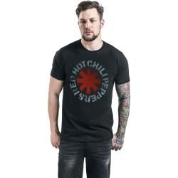 Photo of Red Hot Chili Peppers Stencil Black T-Shirt