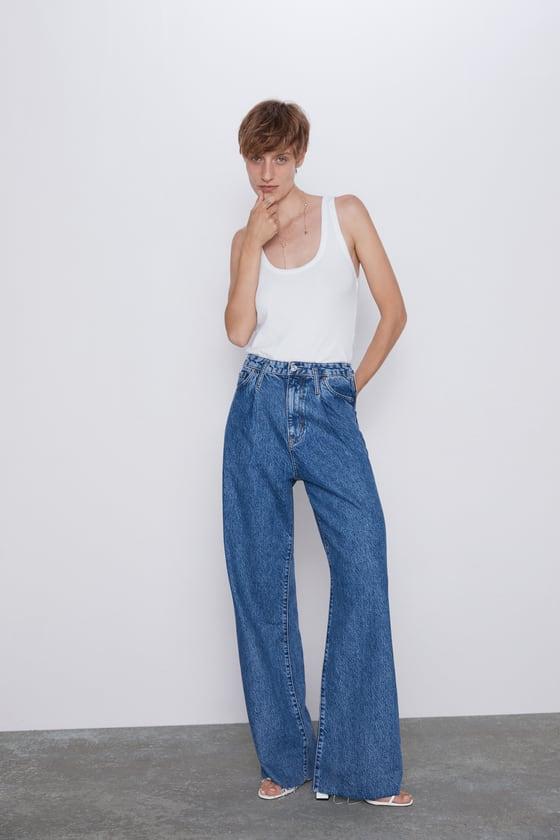 Jeans Zw Premium Wide Leg Jeans Denim Mujer Cornershops Zara Mexico Jeans De Tiro Alto Jeans Zara