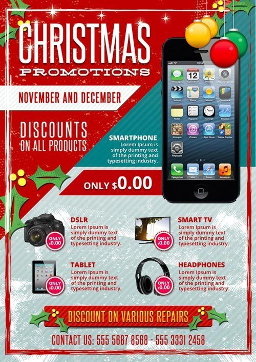 Download Christmas Business Promotions Free Psd Flyer Template Free