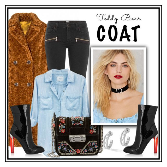 """""""Teddy Bear Coat"""" by isror on Polyvore featuring Paige Denim, Rails, Lanvin, Messika and Alexander McQueen"""