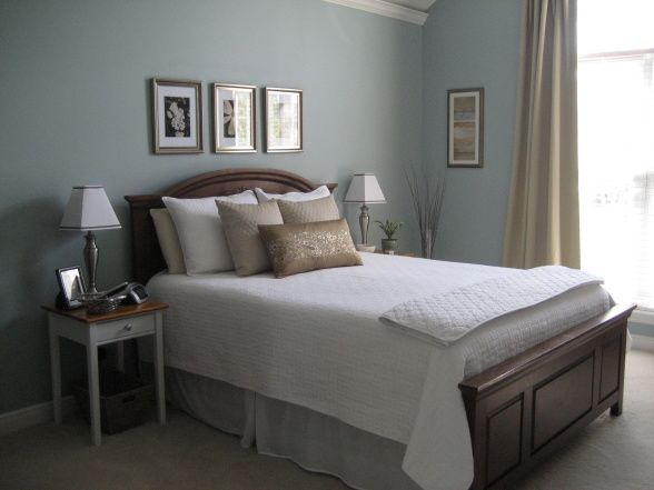 remarkable wedgewood gray bedroom | Benjamin Moore Wedgewood Gray - bedroom wall color ...