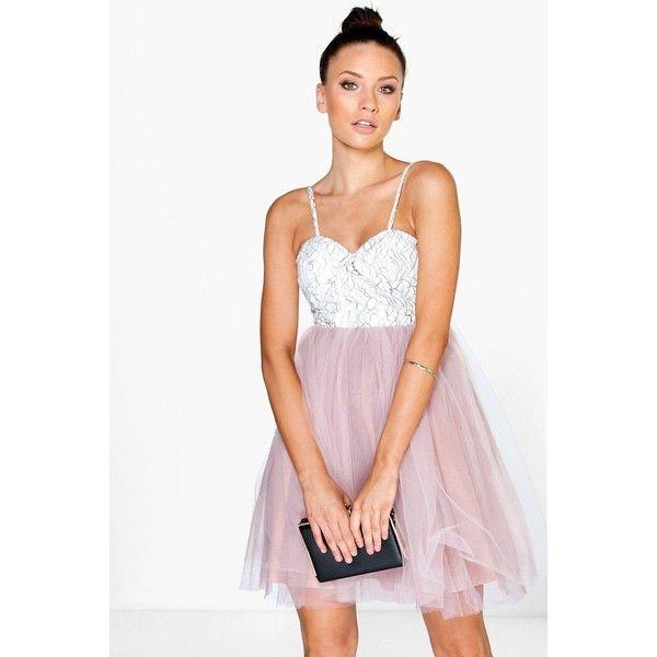 Boohoo Petite Petite Philippa Corded Lace Buster Prom Dress ($44 ...