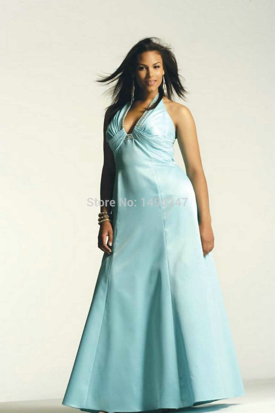 Simple Elegant Taffeta A Line Long Party Dresses 2014 Hot Selling ...