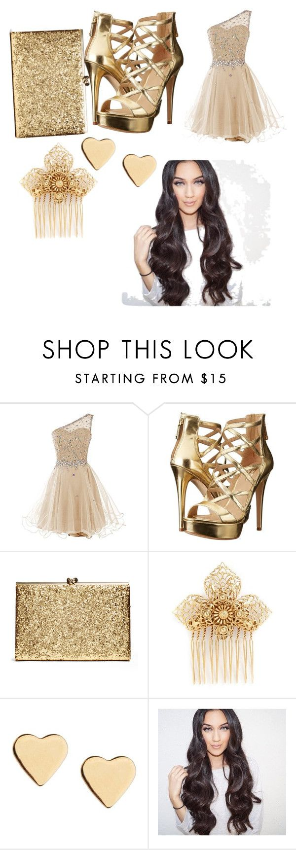 """""""Homecoming"""" by daniah-shannon ❤ liked on Polyvore featuring GUESS, Miriam Haskell and Lipsy"""