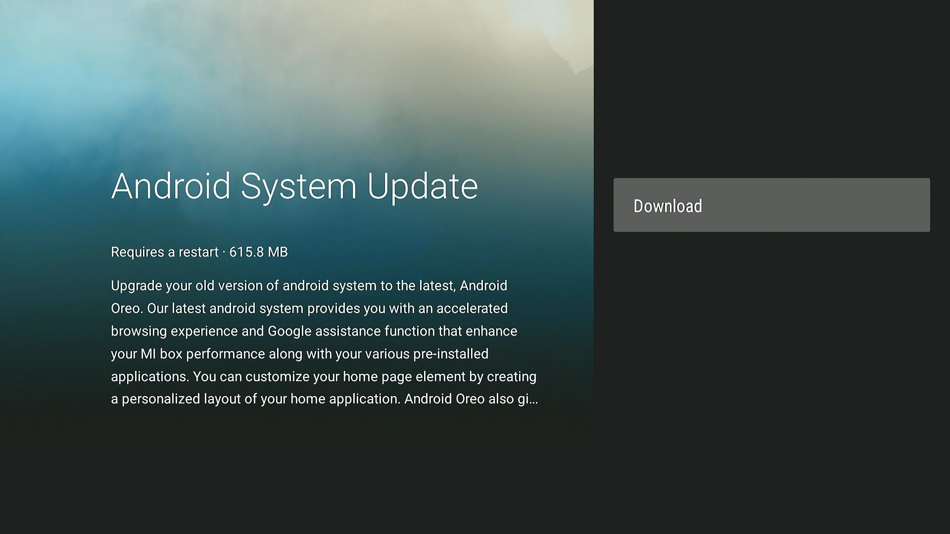 The Xiaomi Mi Box is now in the process of receiving its update to Android 8 0
