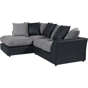 Buy Carter Jumbo Cord Leather Effect Left Hand Corner Sofa Char At Argos Co Uk Your Online Shop For Sofas Corner Sofa Sectional Couch Interior