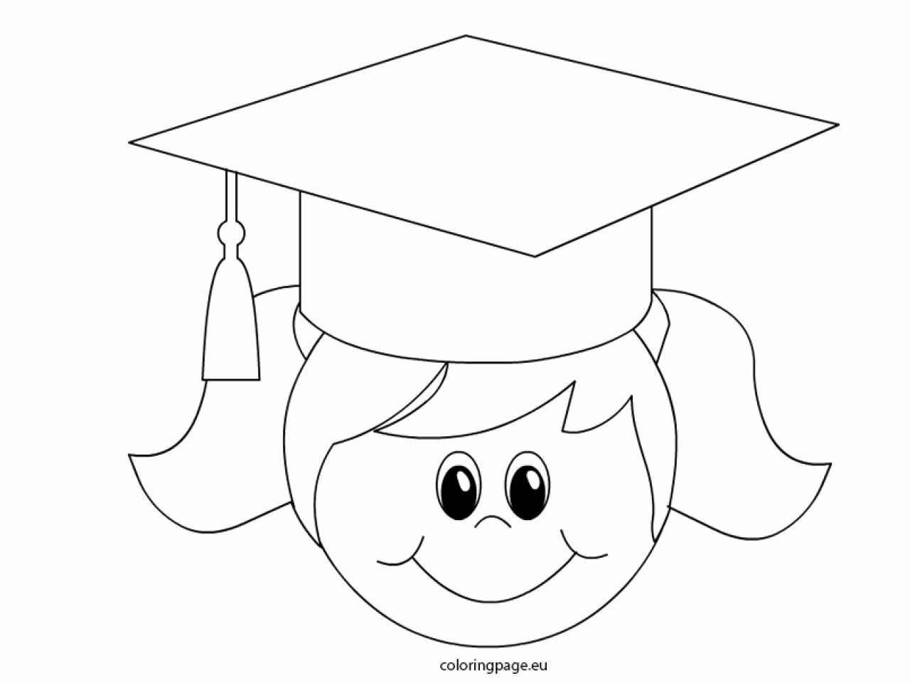 Graduation Cap Coloring Page Lovely Graduation Cap Coloring Page Printable Colouring Graduation Girl Preschool Graduation Graduation Cap
