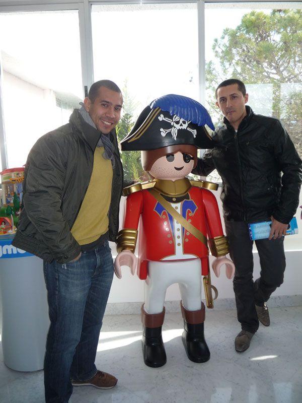 Con Camilo Vera en nuestra visita MACOM en las instalaciones de Playmobil