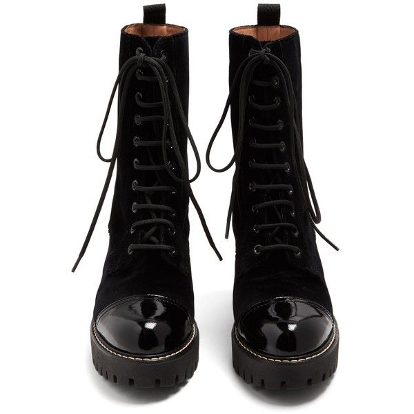AlexaChung Lace-up velvet boots Clearance For Nice Clearance Latest Collections Ze0zXJKND