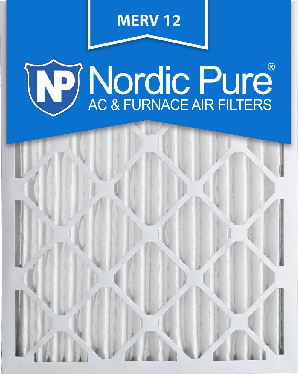 Nordic Pure 20x25x2M123 MERV 12 Pleated Air Condition