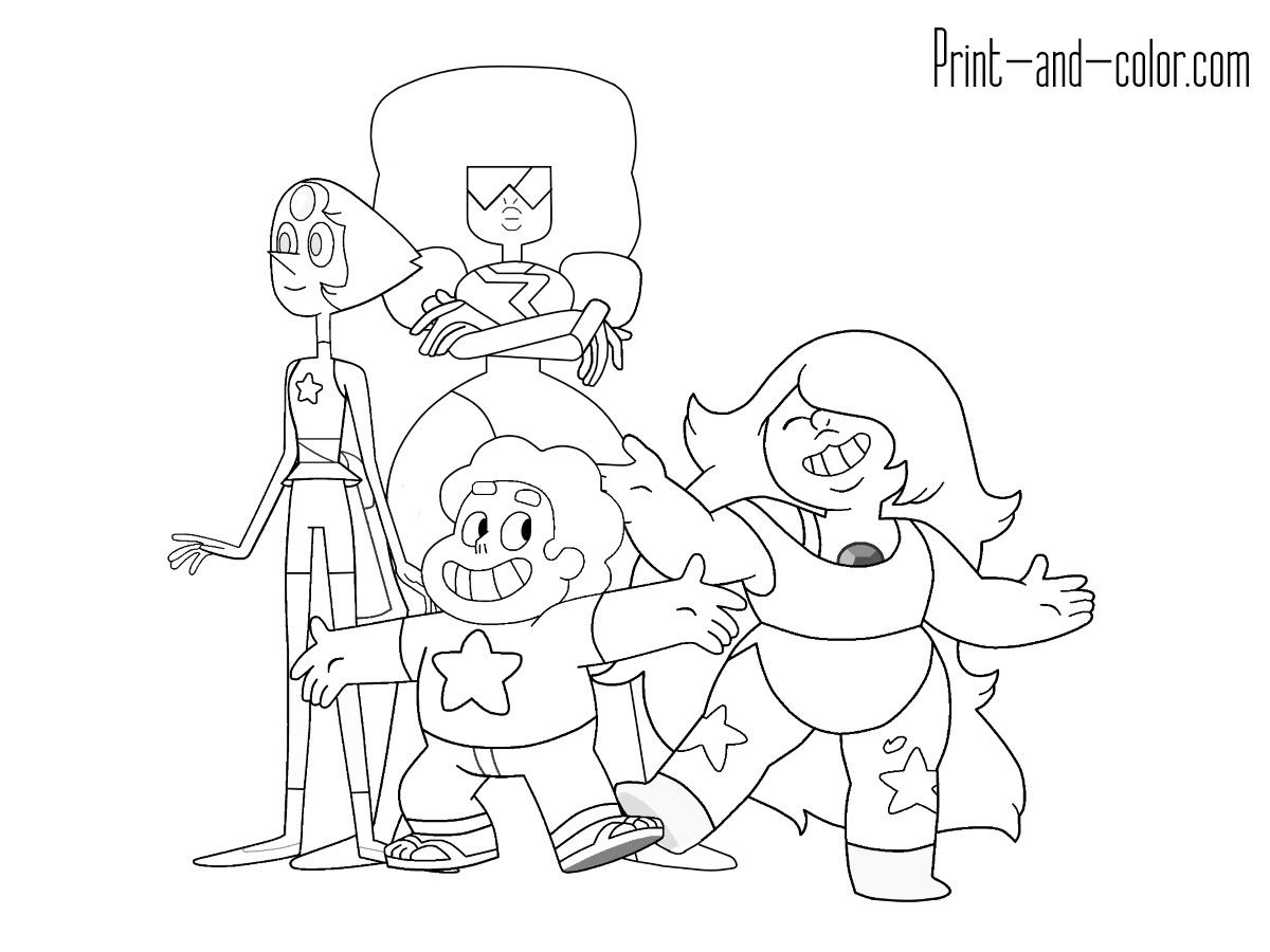Steven Universe Coloring Pages In 2020 Coloring Book Set Coloring Books Coloring Pages