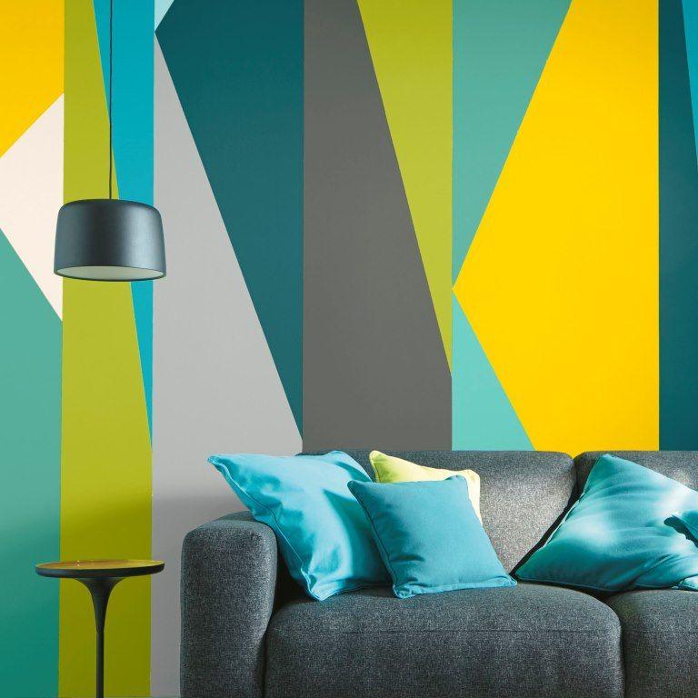 Peinture Murs et boiseries Canari Satin 2,5L | Déco Jaune en ...