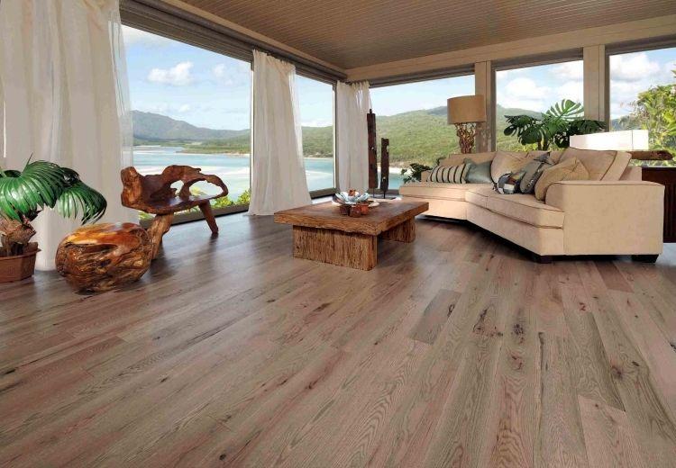 Fußboden Wohnzimmer ~ Vinyl boden belag verlegen hell holz imitat wohnzimmer couch beige
