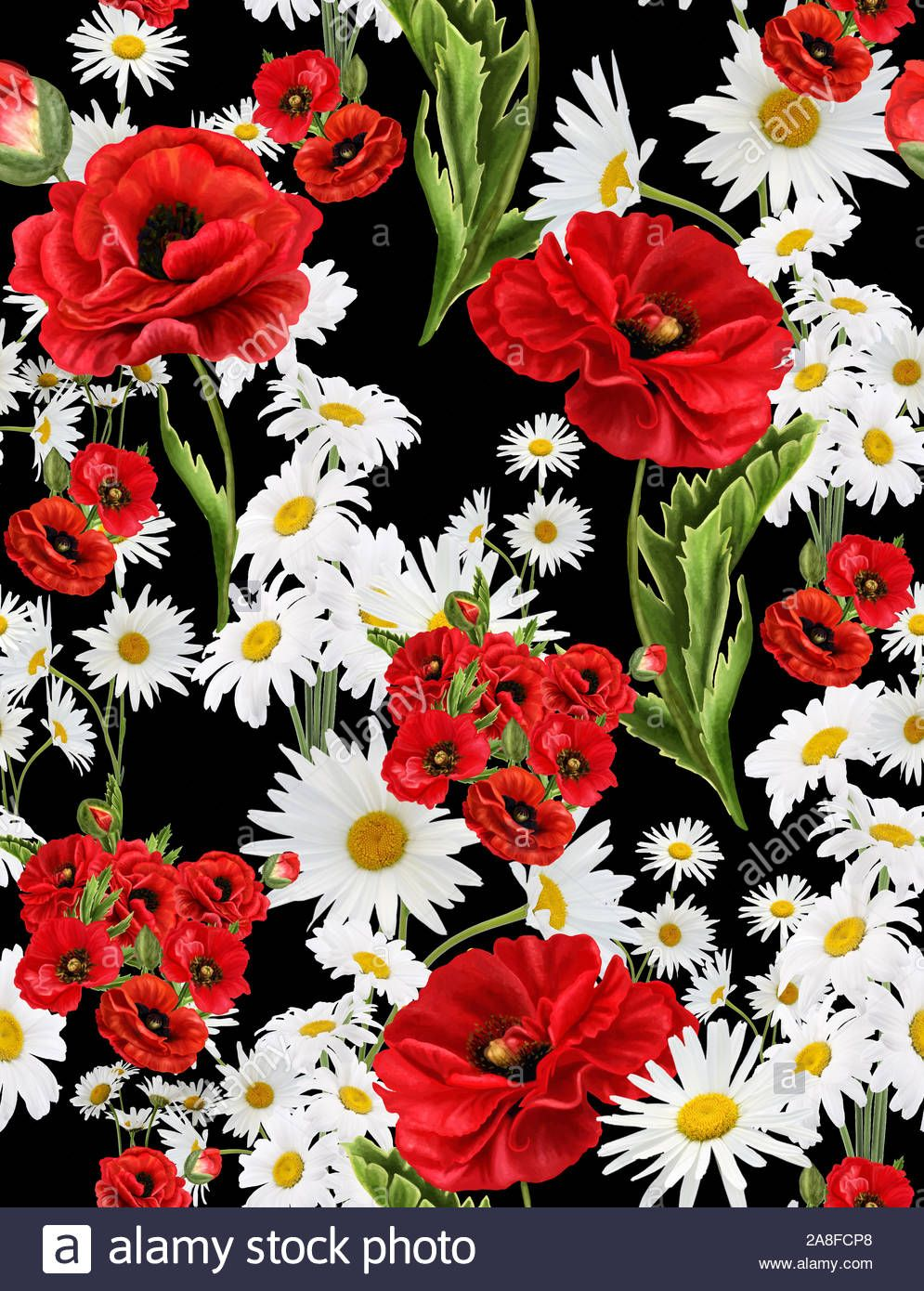Download this stock image Seamless floral pattern with