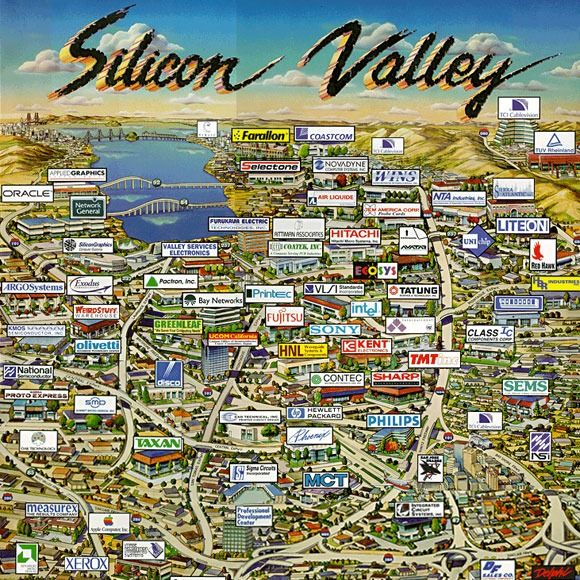 Bay Area Company Map Google Search To Do List Valley