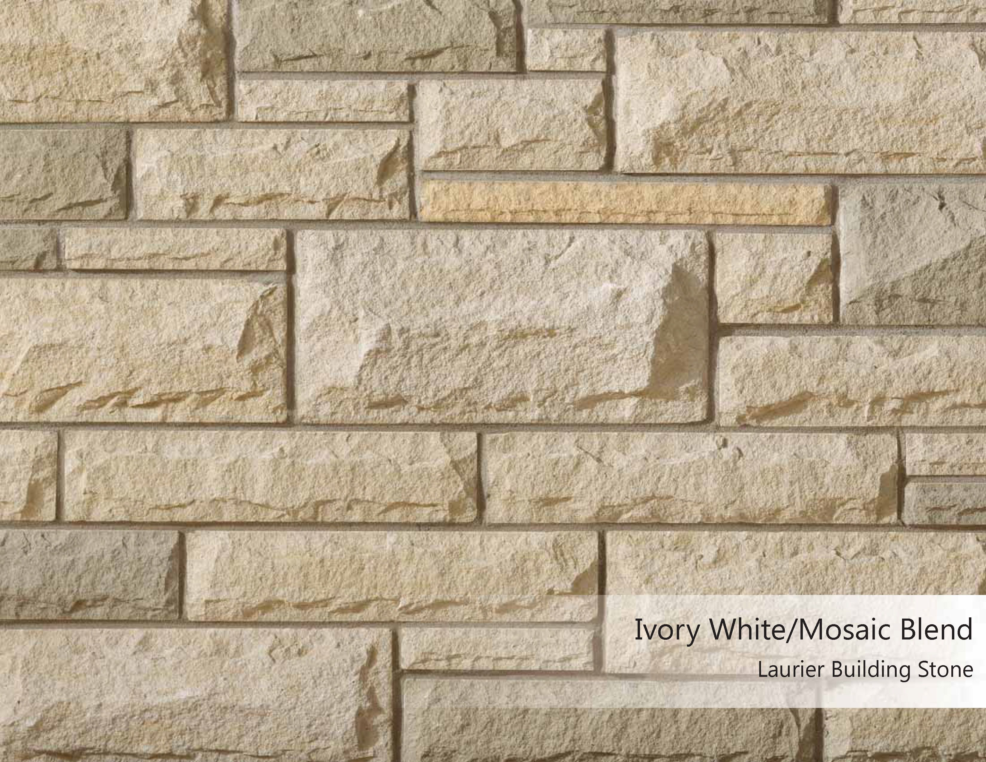 Laurier Building Stone  Ivory Whitemosaic Blend