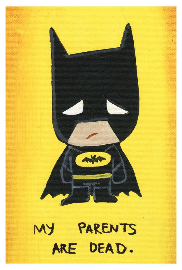 Batman | 17 Adorably Emo Paintings Of Your Favorite Pop Culture Icons