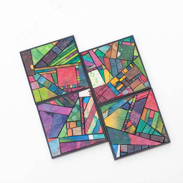 crafty ideas modern coasters. Coasters Handmade Paper Mosaic  Mosaics Pinterest