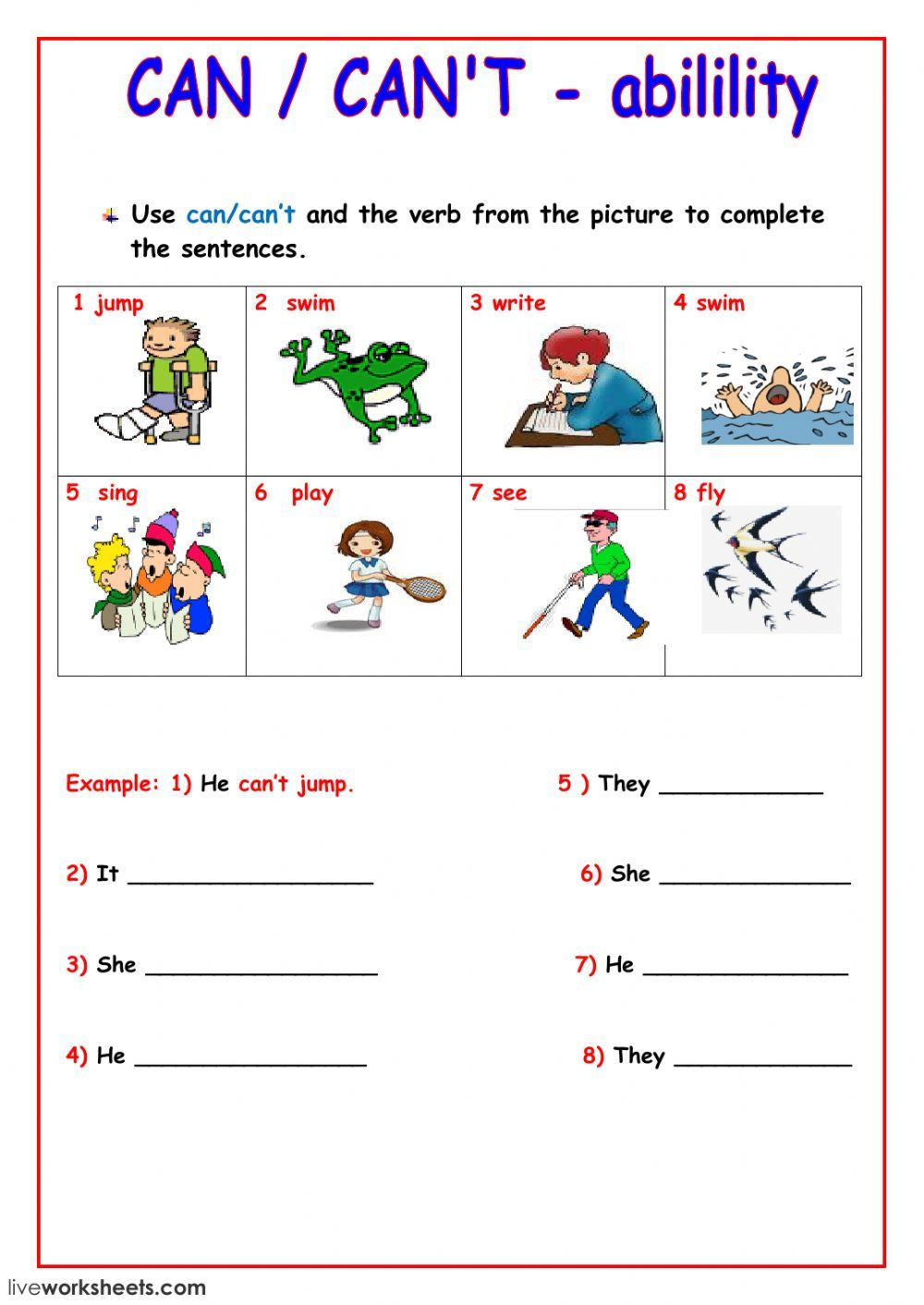 Can Can T Interactive Worksheet Grammar For Kids English Lessons For Kids English Grammar For Kids [ 1413 x 1000 Pixel ]