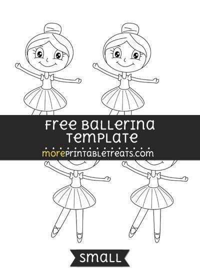 Free Ballerina Template - Small | Shapes and Templates Printables ...